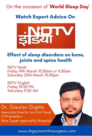 Stay Tune To NDTV TV To Know About Effect of Sleep Disorders on Bone, Joints and Spine Health
